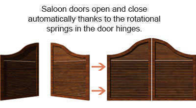 rotational springs in saloon door hinges