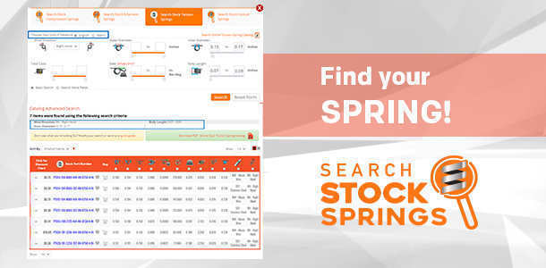 stock torsion springs catalog search