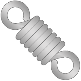 stock wire extension springs