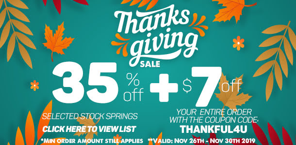 thanksgiving discount stock springs