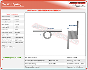 torsional torsion spring calculator generate blueprint
